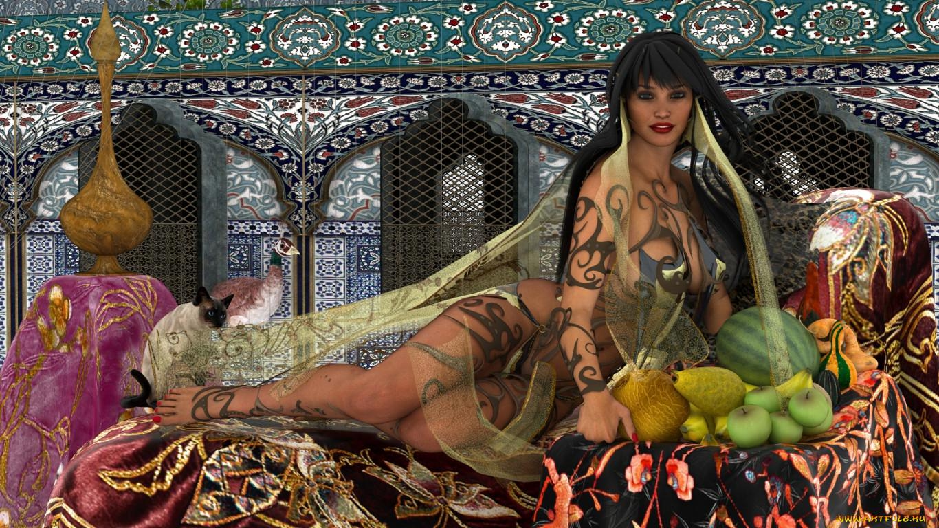 фото обои голых арабских женщин